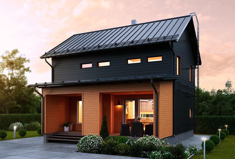 двухэтажный финский домик