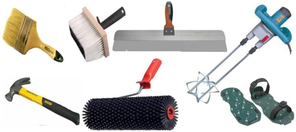 инструменты для заливки пола