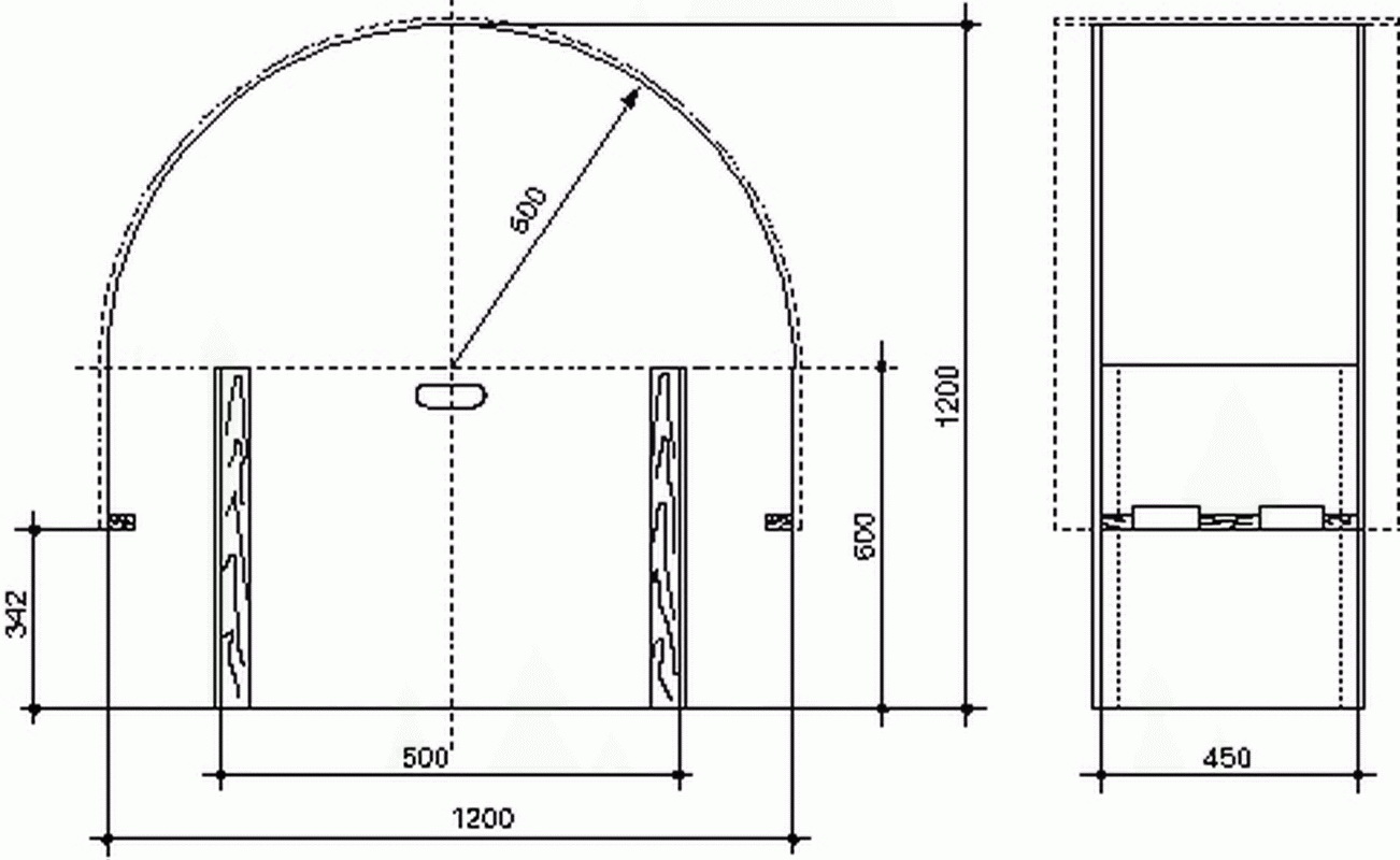 как сделать арку из гипсокартона замеры