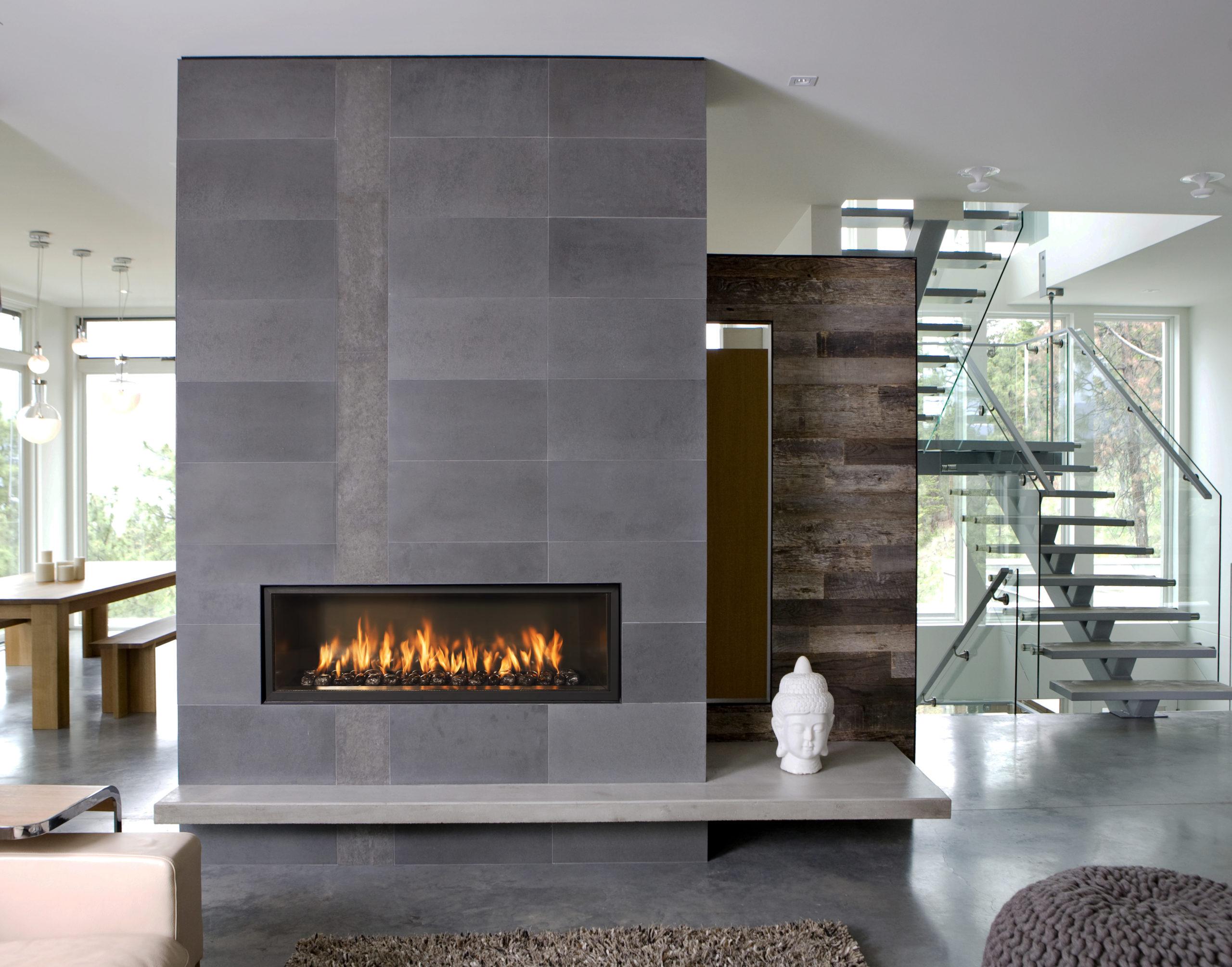 камин в стиле модерн