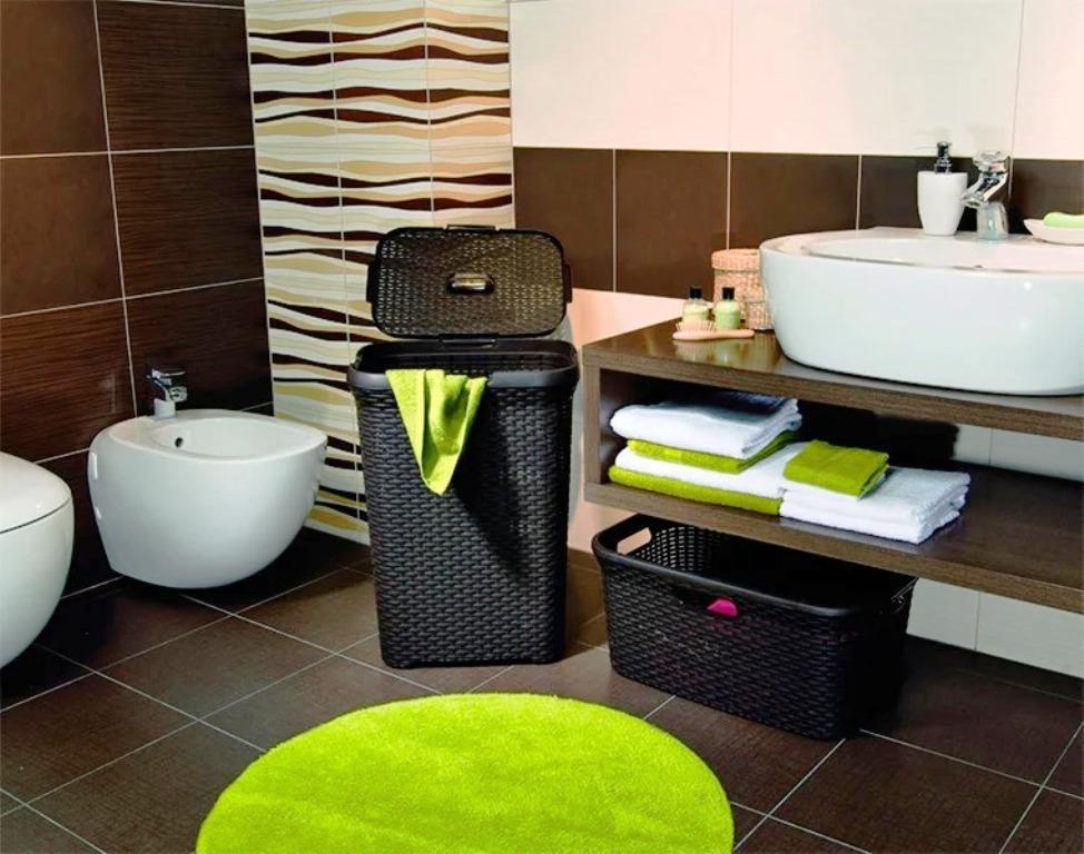 корзины для белья в ванной