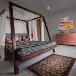 кровать с балдахином оформление