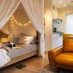 кровать с балдахином фото оформления