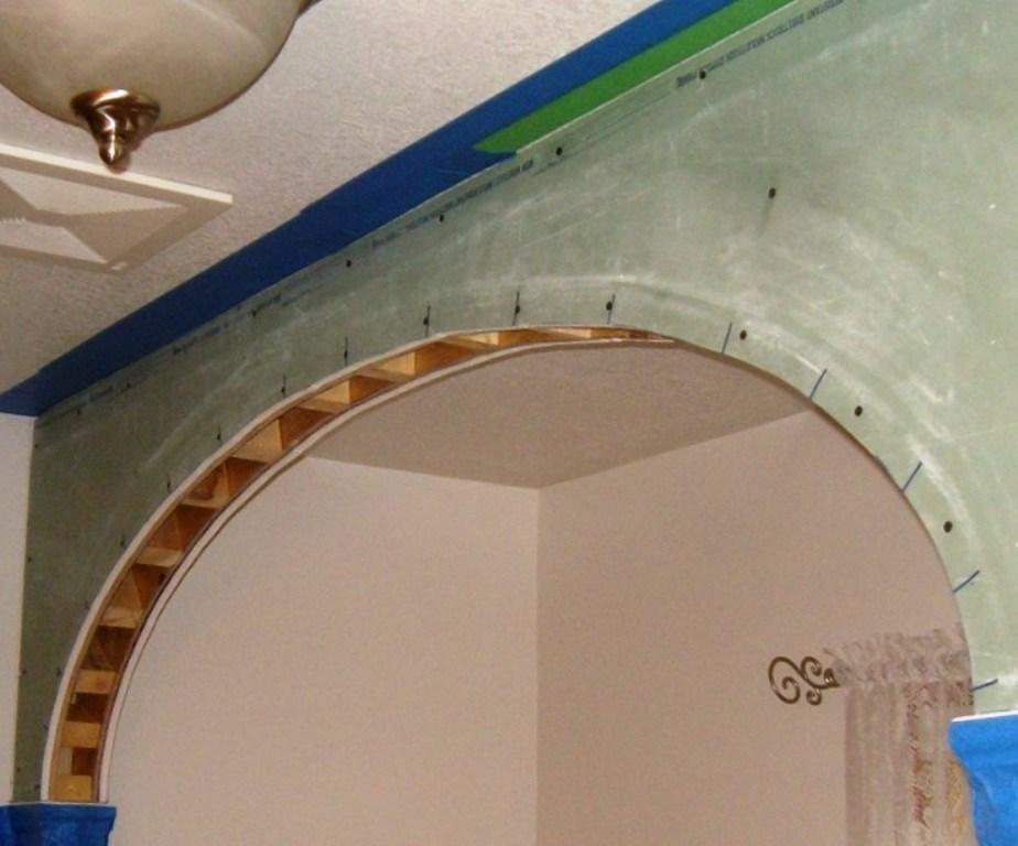 как сделать арку из гипсокартона каркас