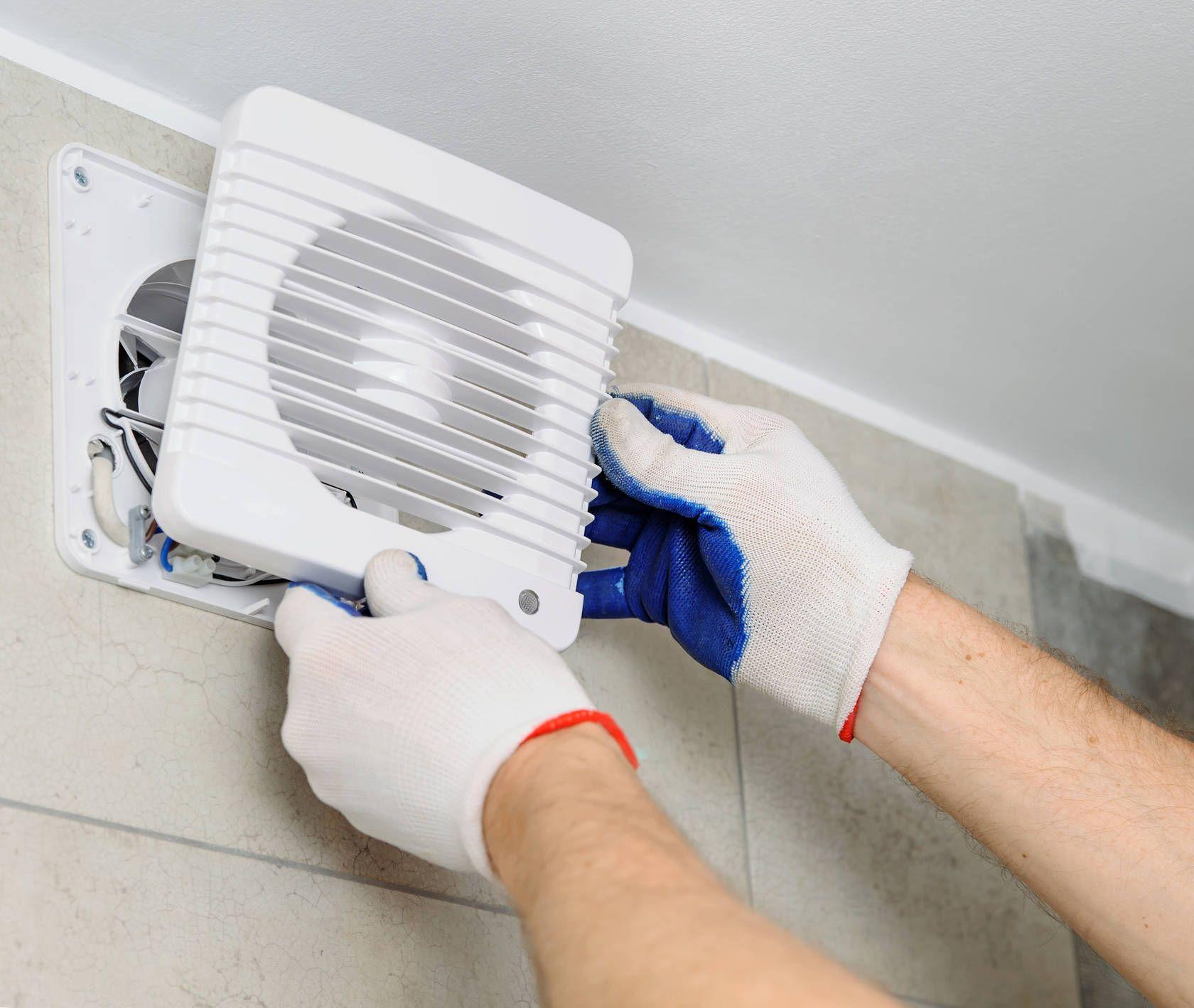 монтаж вентилятора в санузле