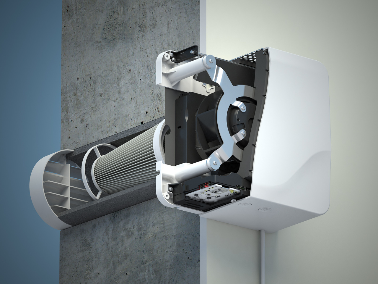 настенная система вентиляции