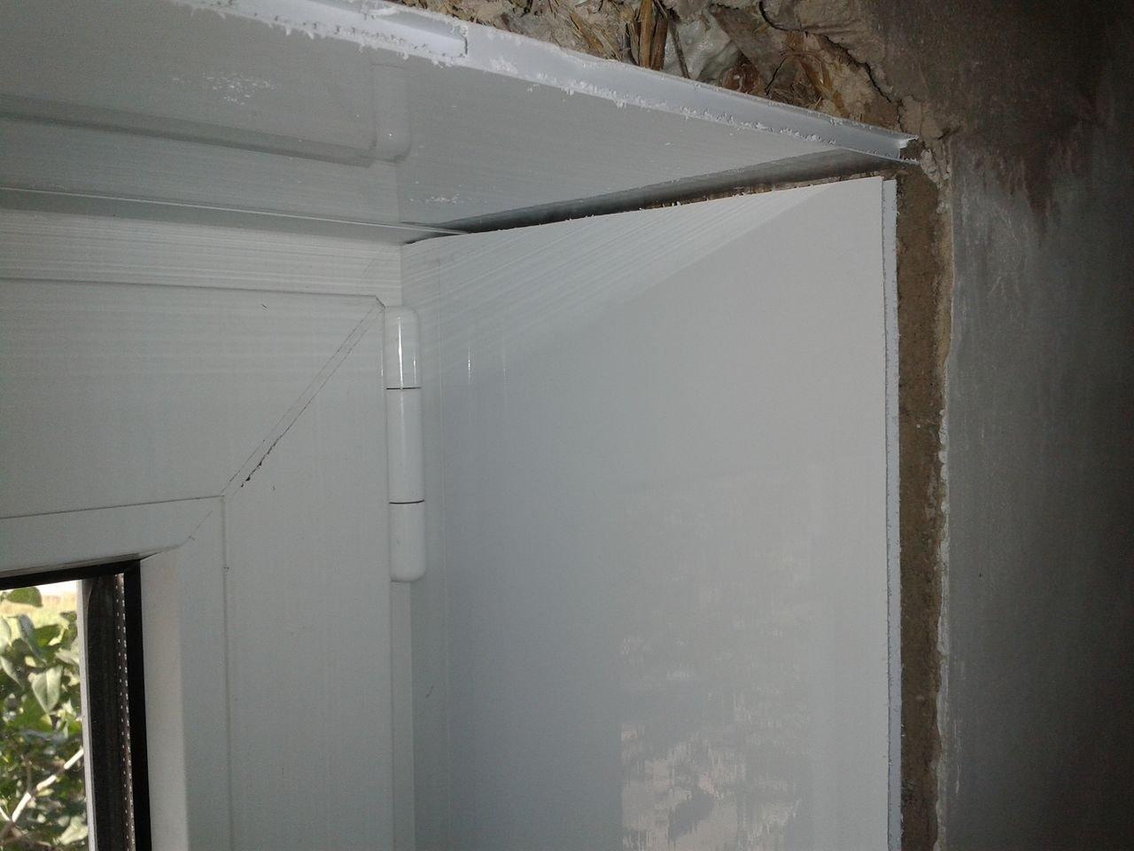отделка окон внутри
