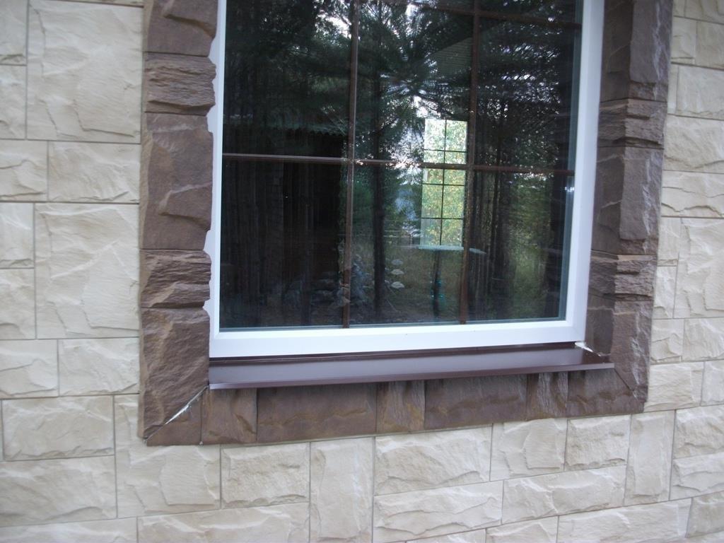 откосы для пластиковых окон из декоративного камня