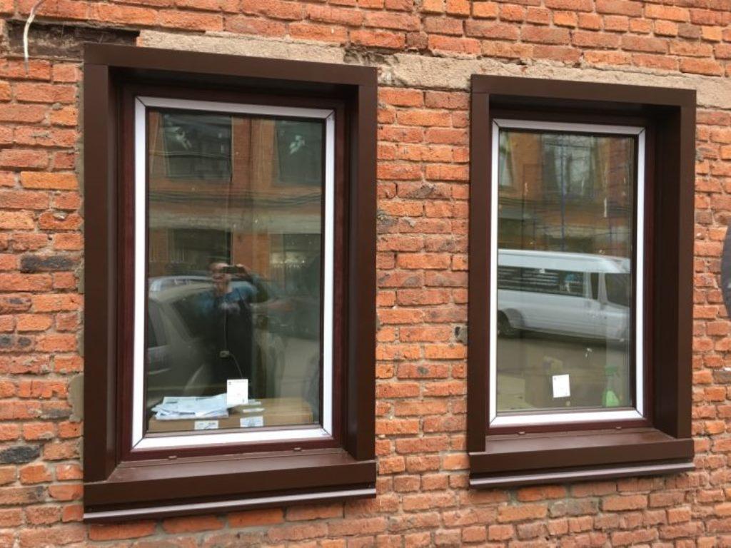 наружные откосы на окна из металла