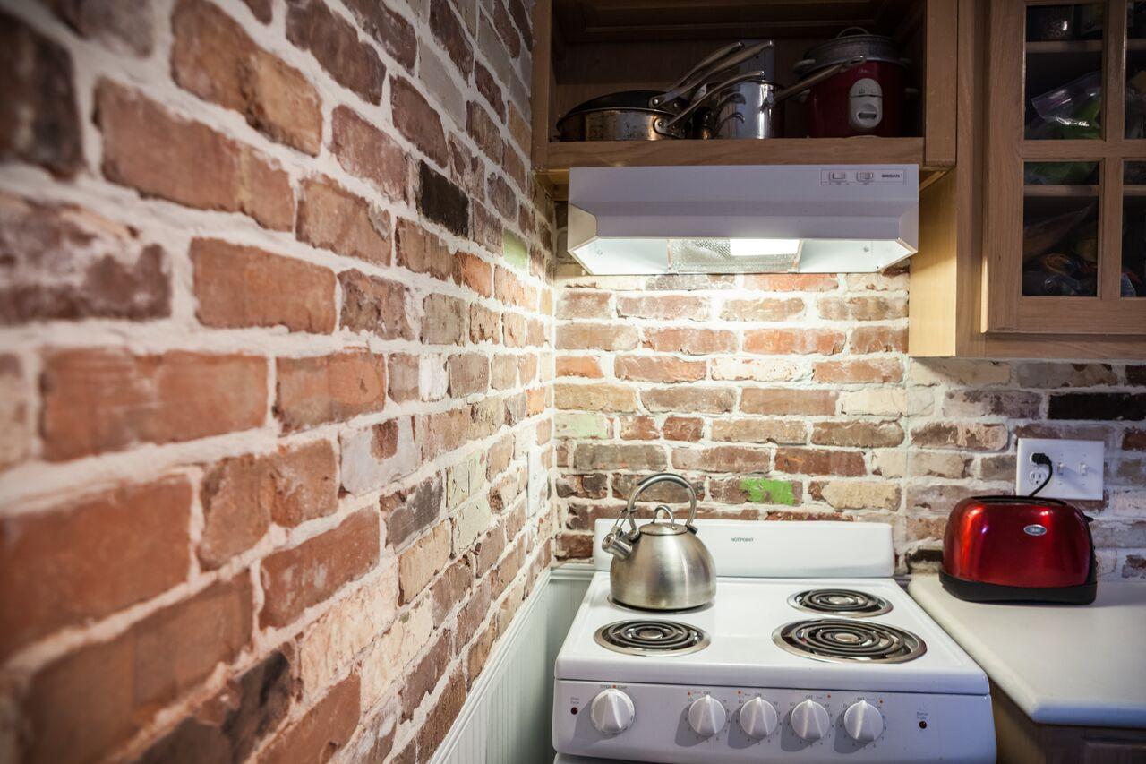 панели под кирпич на кухне идеи