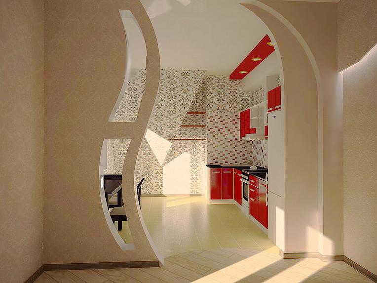 линии, дизайн гипсокартонных перегородок фото квартиры новостройке рябиновый