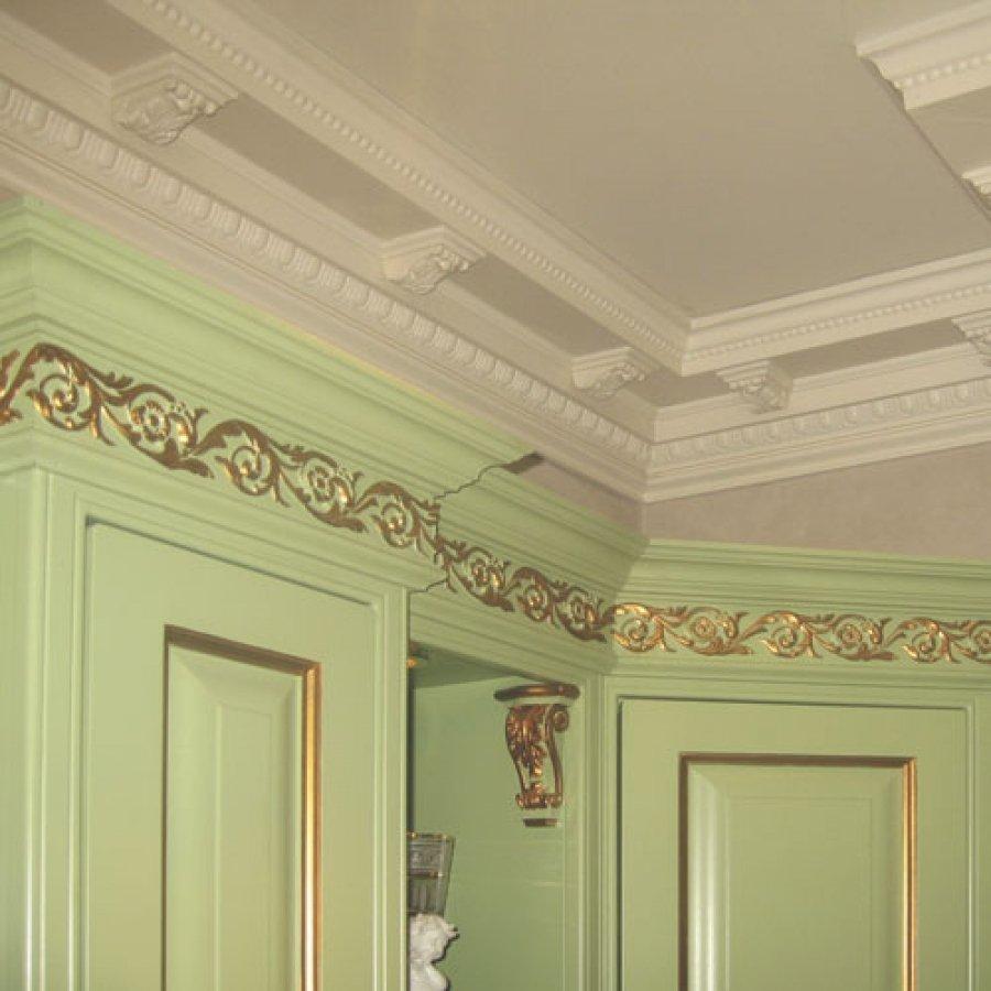 Потолки с лепниной из полиуретана фото