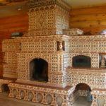 плитка для печей и каминов дизайн фото