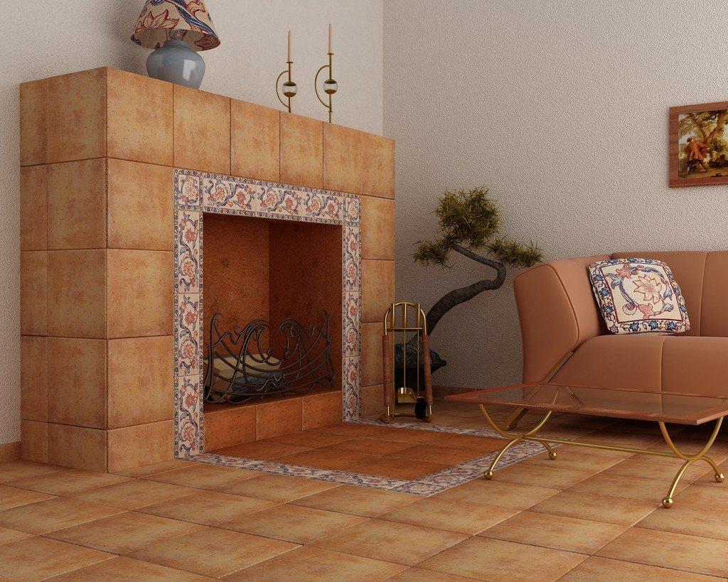 плитка для печей и каминов идеи дизайн