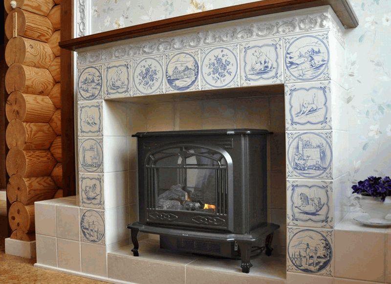 плитка для печей и каминов идеи фото