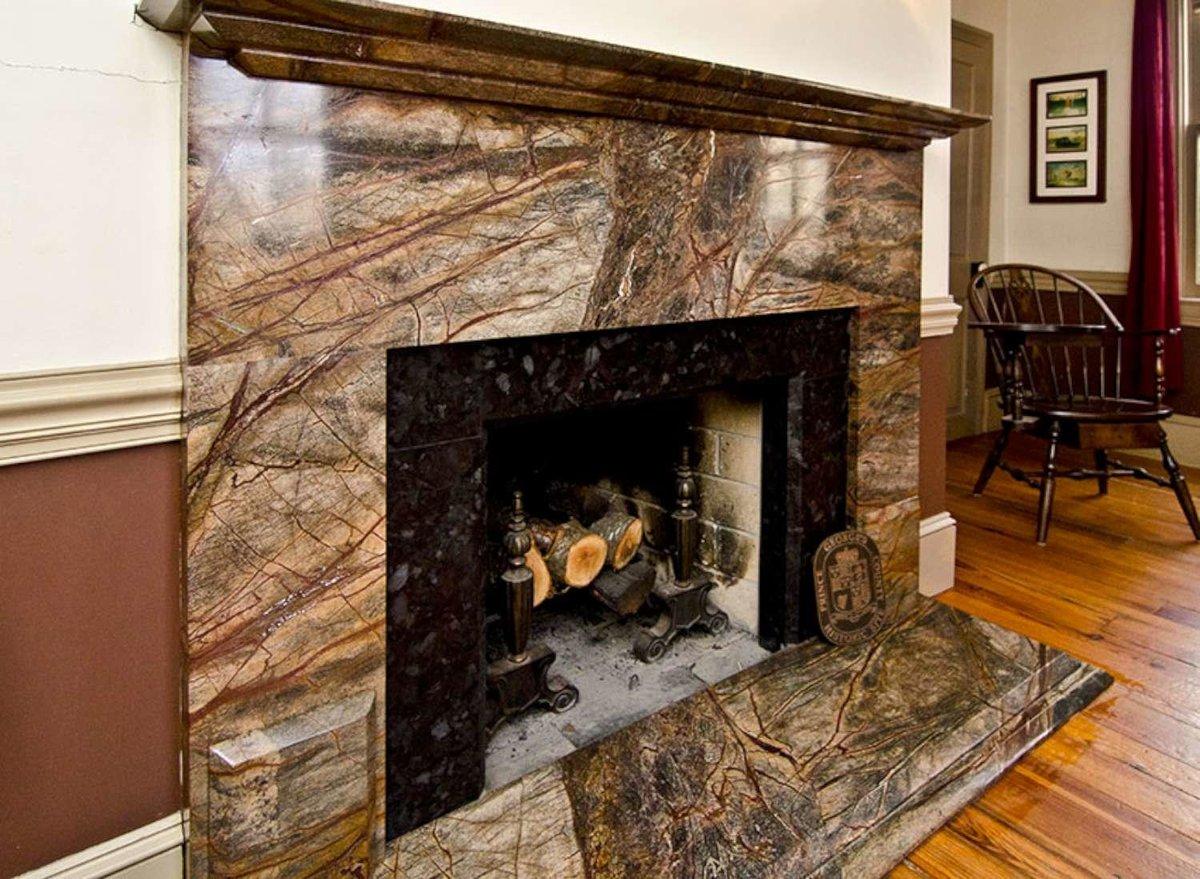 плитка для печей и каминов мраморная