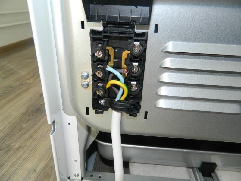 подключение электроплиты кабель