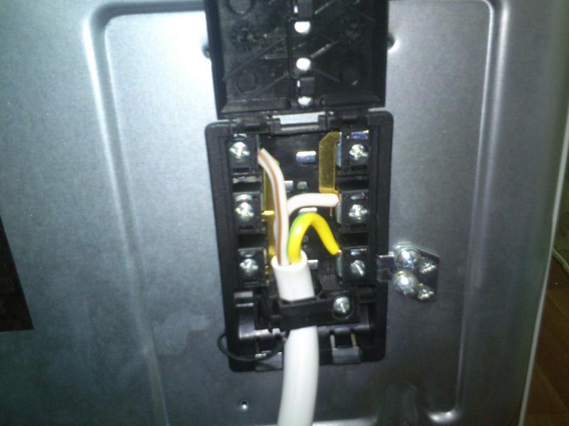 подключение электроплиты шнур