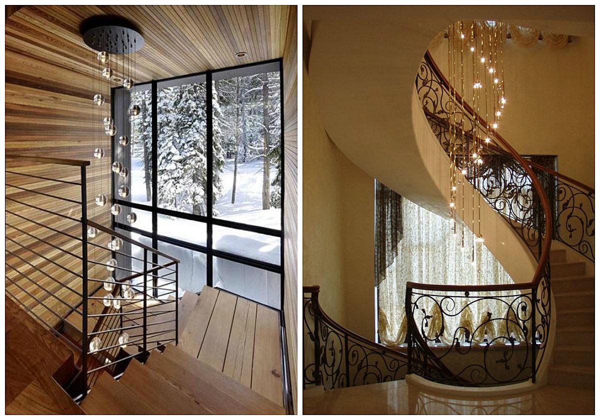 подсветка лестницы в доме разновидности