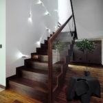 подсветка лестницы в частном доме фото декор
