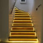 подсветка лестницы в частном доме идеи декор
