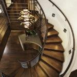 подсветка лестницы в частном доме интерьер фото