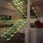 подсветка лестницы в частном доме фото оформление