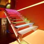 подсветка лестницы в частном доме идеи оформление
