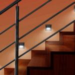 подсветка лестницы в частном доме дизайн фото