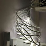 подсветка лестницы в частном доме фото дизайна