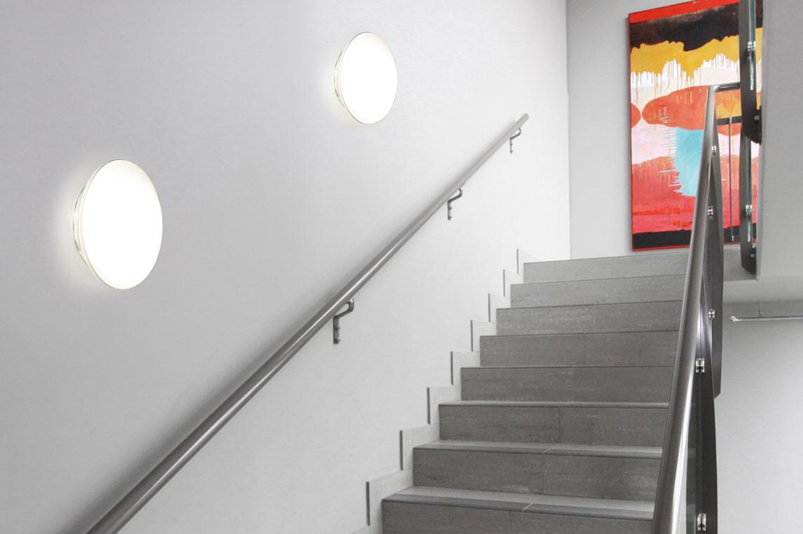 подсветка лестницы бра