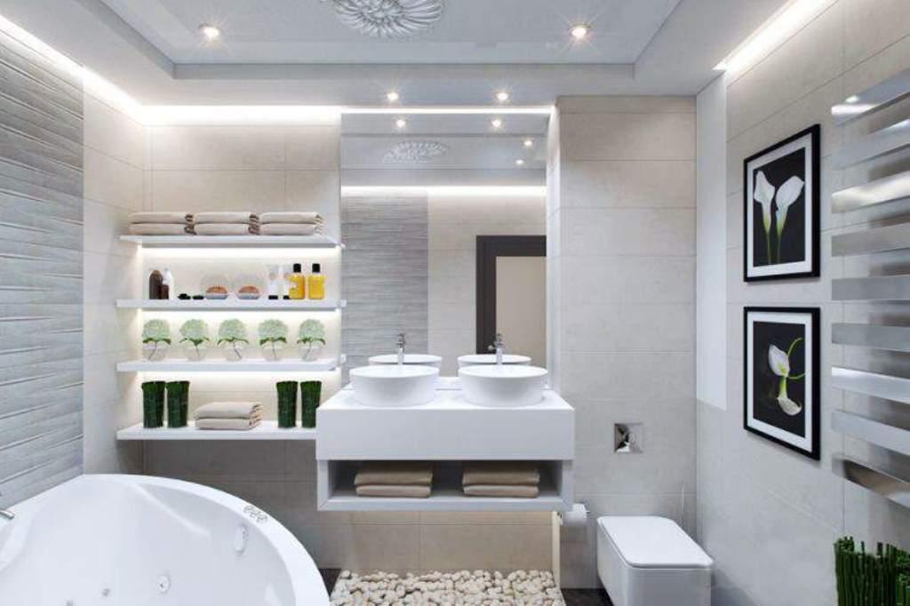 полки в ванной комнате из гипсокартона