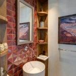полки в ванной комнате фото декора