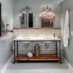 полки в ванной комнате виды идеи