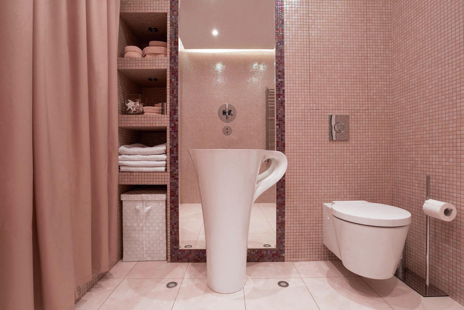 полки в ванной комнате идеи фото