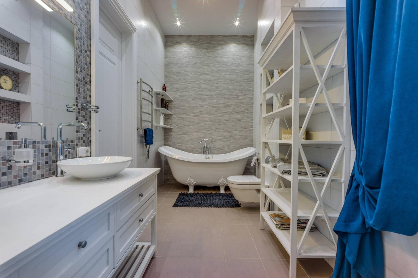 полки в ванной комнате идеи
