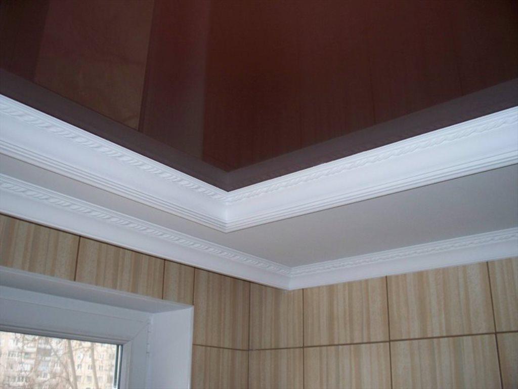 потолочный плинтус для натяжного потолка фото декора