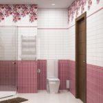 пвх панели в ванной комнате декор фото