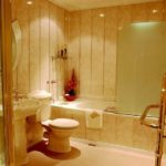 пвх панели в ванной комнате оформление