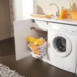 раковина над стиральной машиной виды оформления