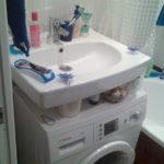 раковина над стиральной машиной дизайн
