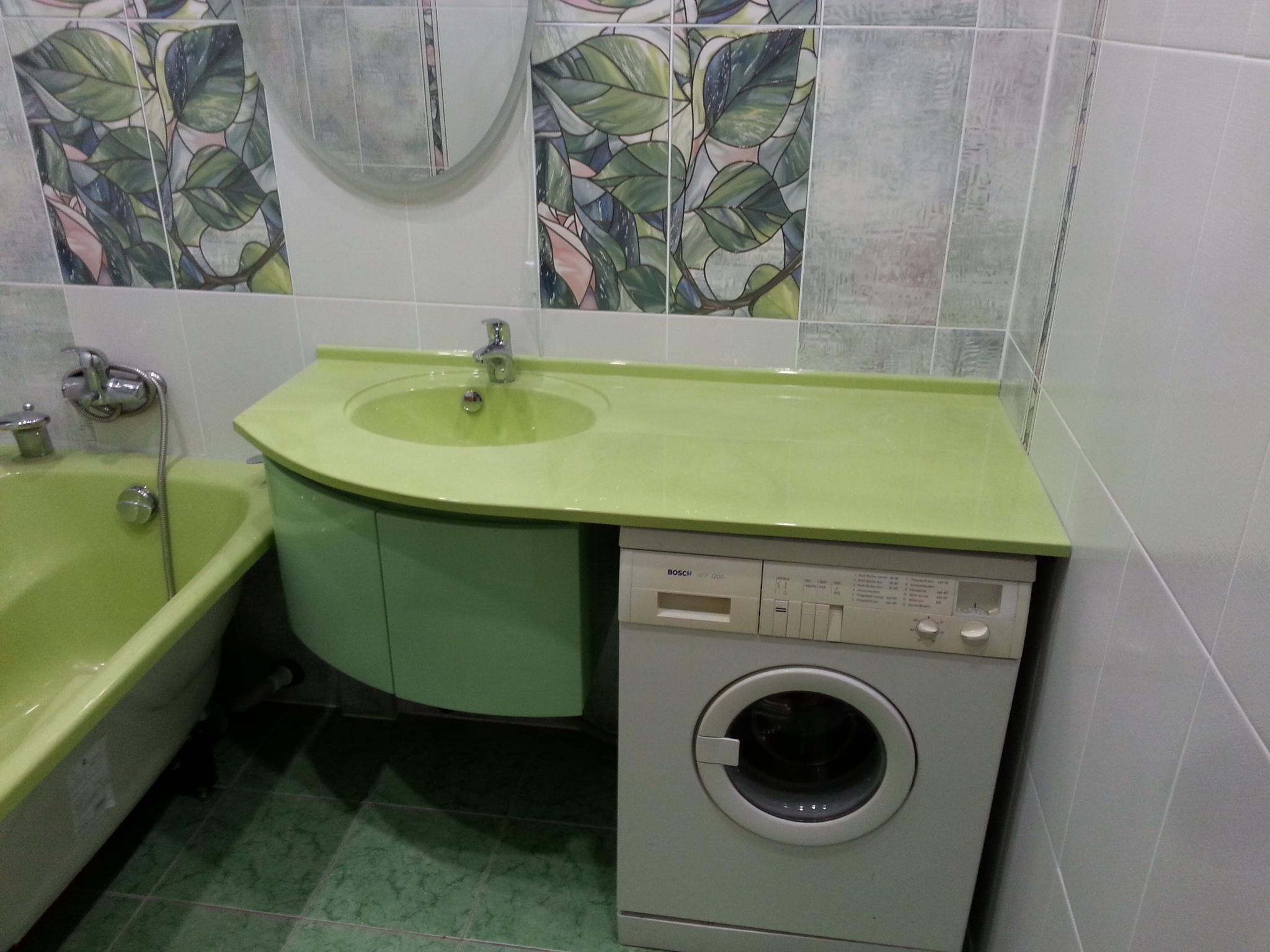 раковина над стиральной машиной дизайн фото