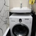 раковина над стиральной машиной дизайн идеи