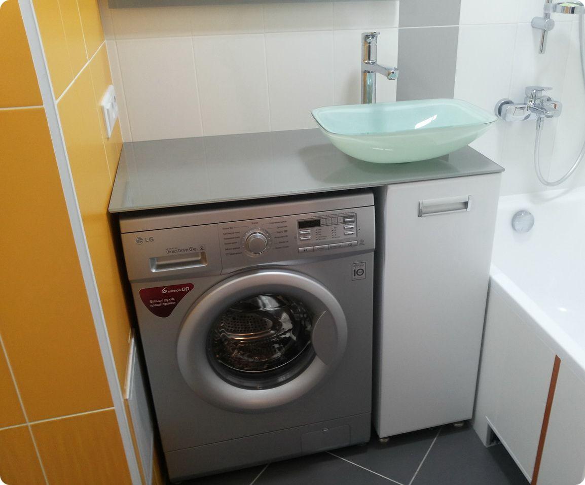 раковина над стиральной машиной фото идеи