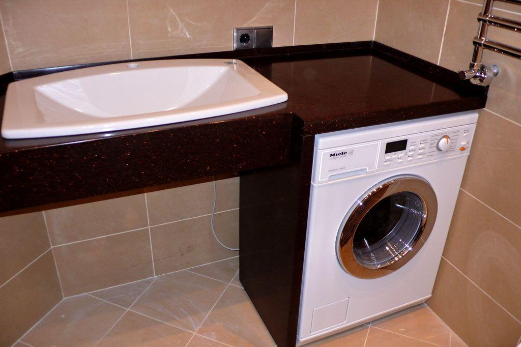 раковина над стиральной машиной фото оформление