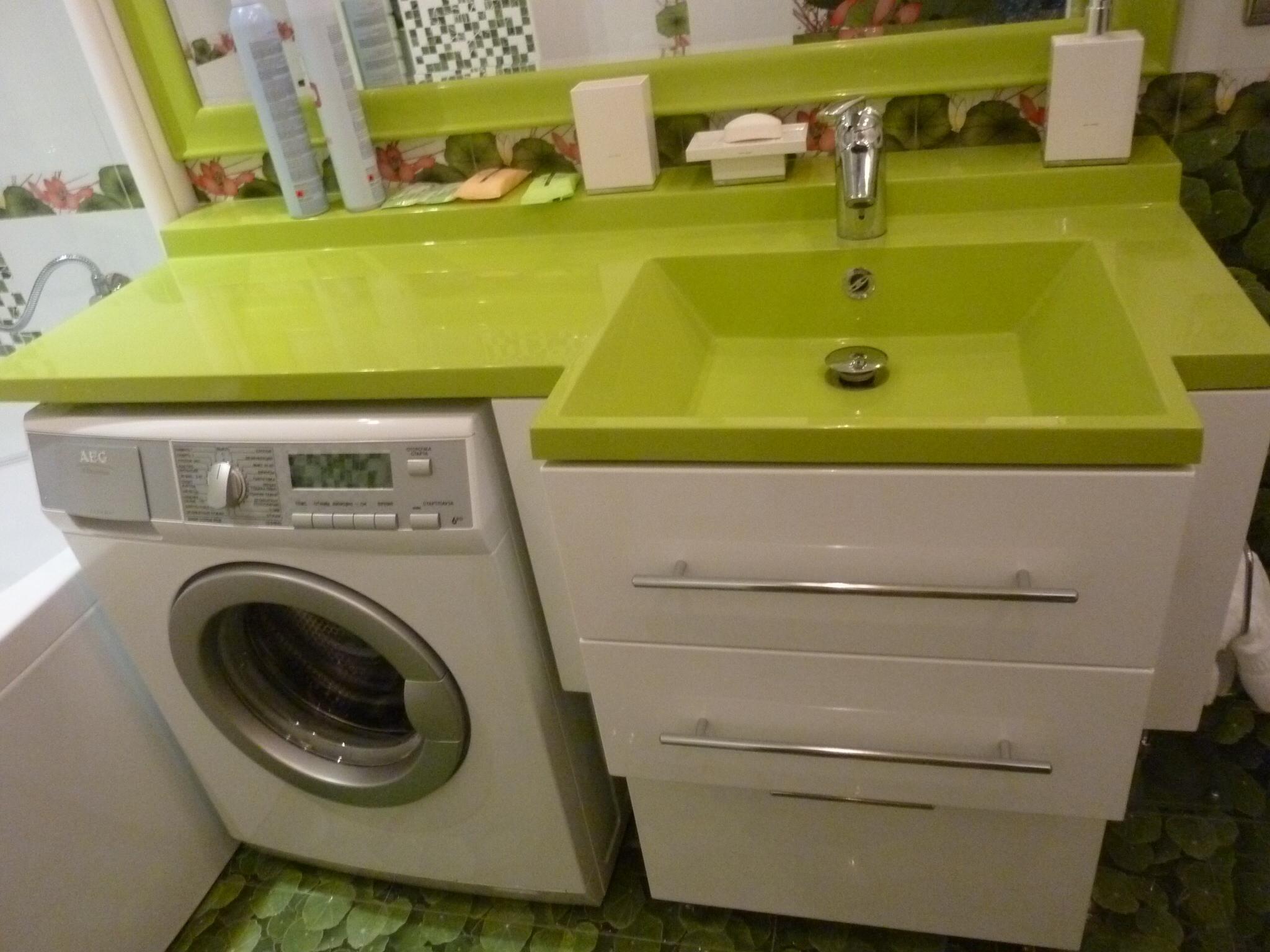 раковина над стиральной машиной идеи оформления