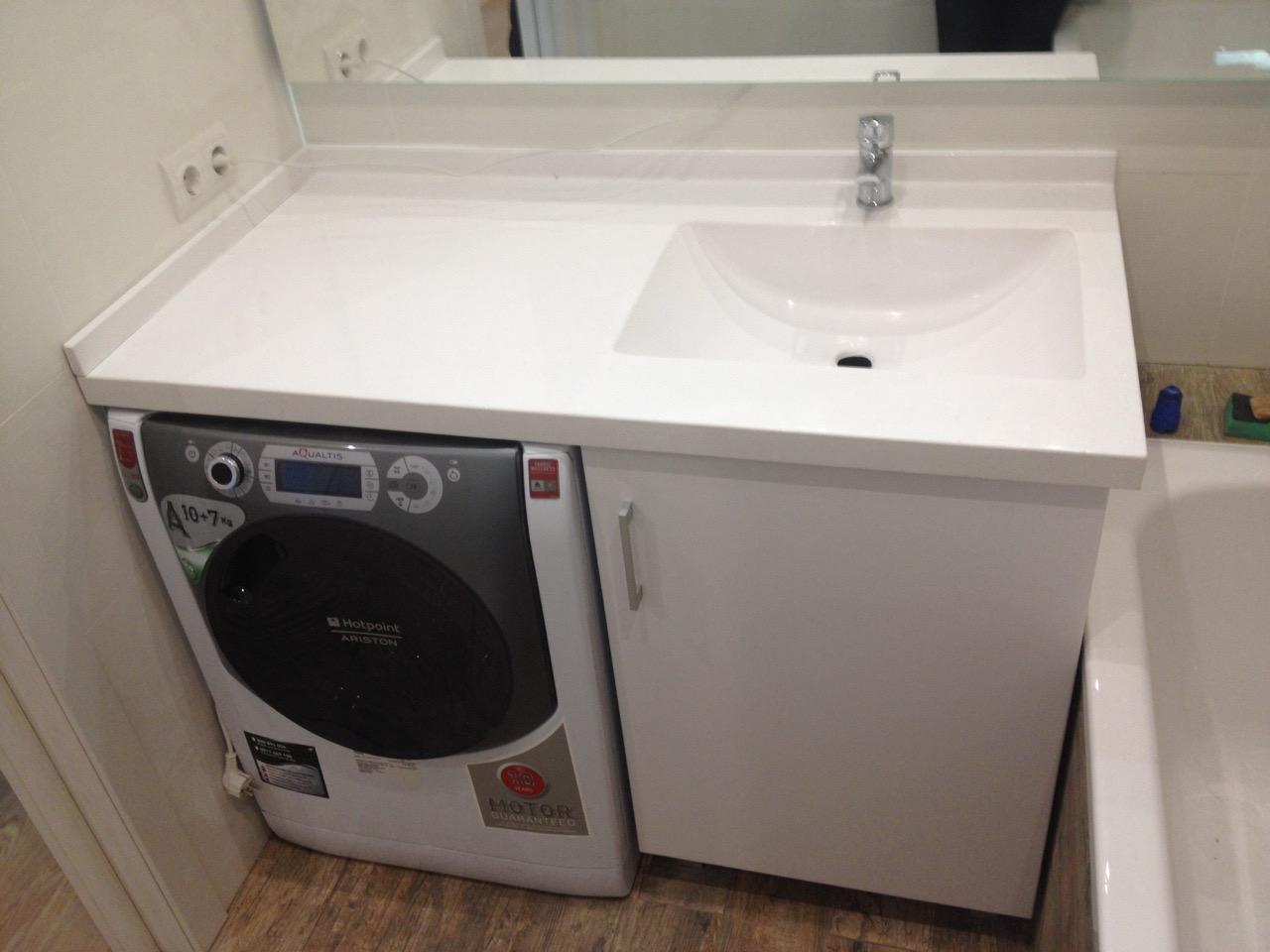 раковина над стиральной машиной оформление фото