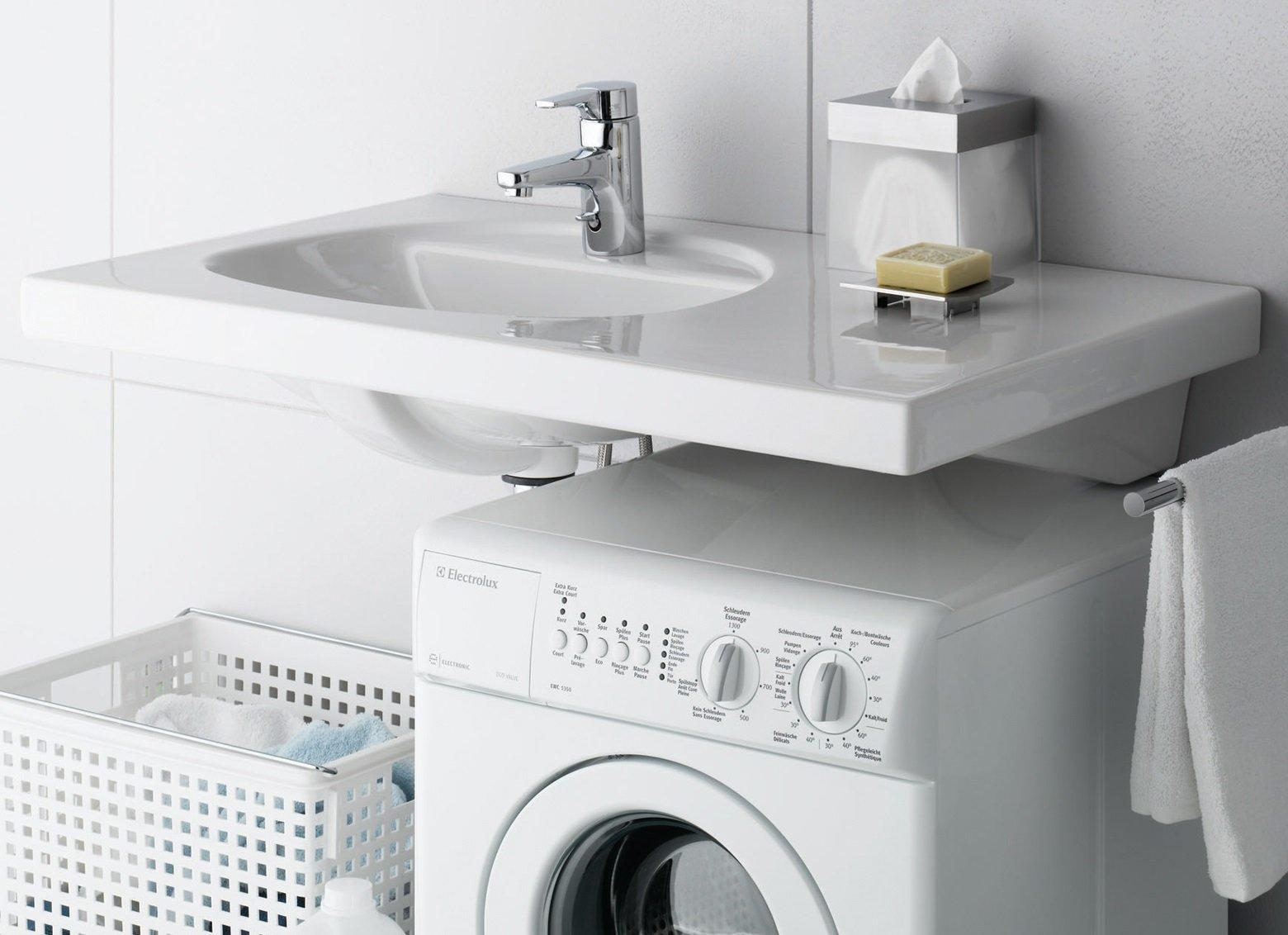 раковина над стиральной машиной оформление