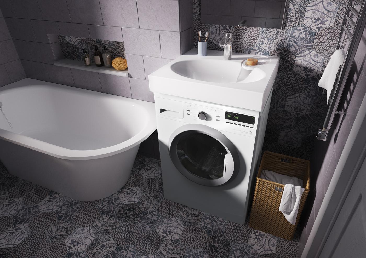 раковина над стиральной машиной варианты фото