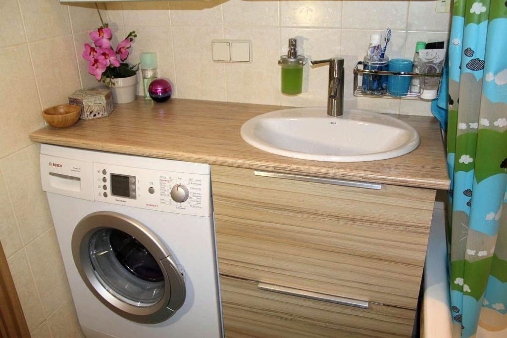 раковина над стиральной машиной варианты